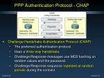 ppp authentication protocol chap