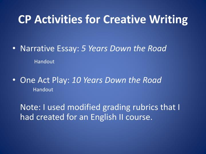CP Activities for Creative Writing