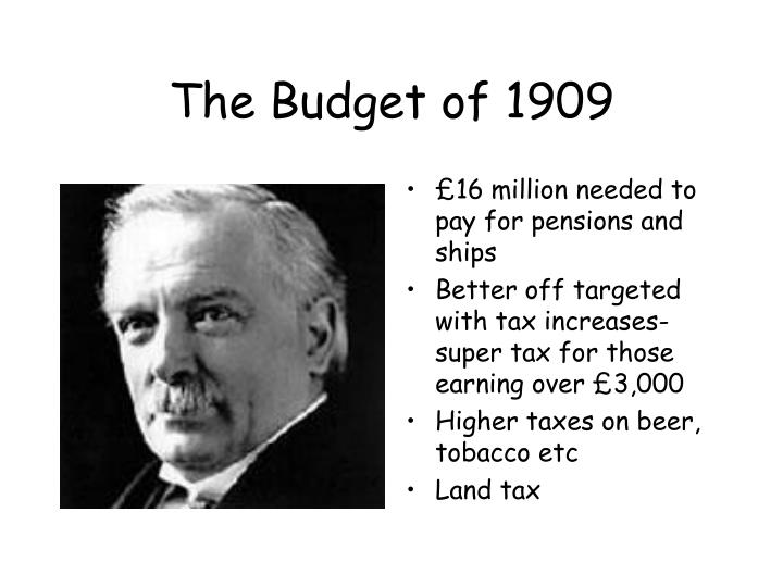 The Budget of 1909