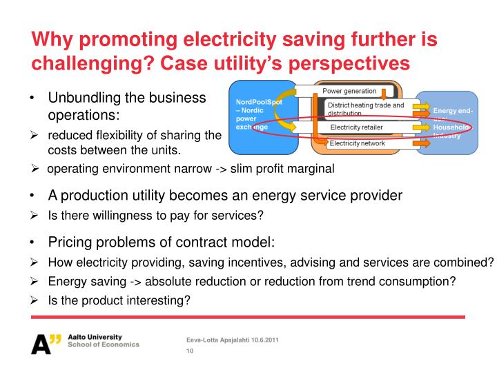 Why promoting electricity saving further is challenging? Case utility's perspectives