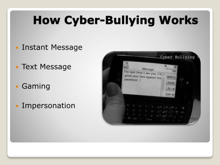 How Cyber-Bullying Works