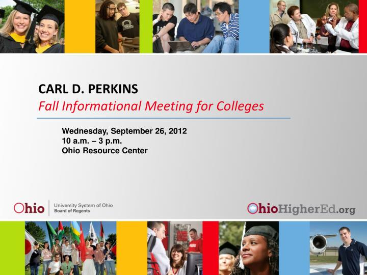 Carl d perkins fall informational meeting for colleges