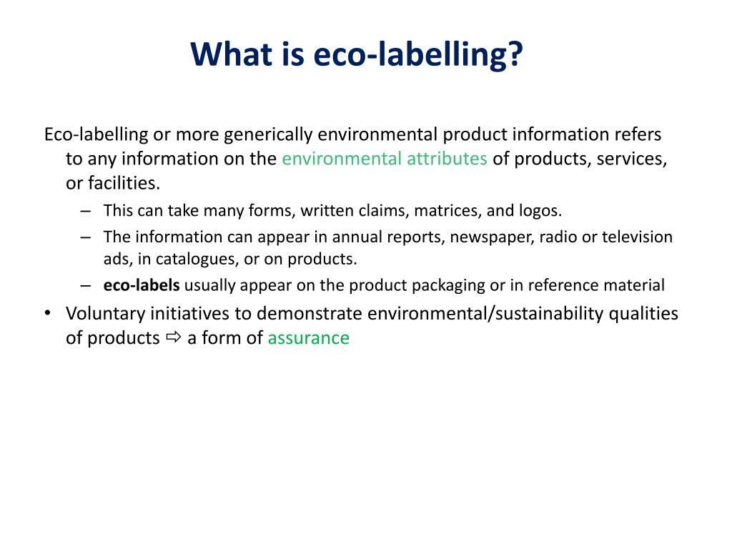 What Is Eco >> Ppt What Is Eco Labelling Powerpoint Presentation Free