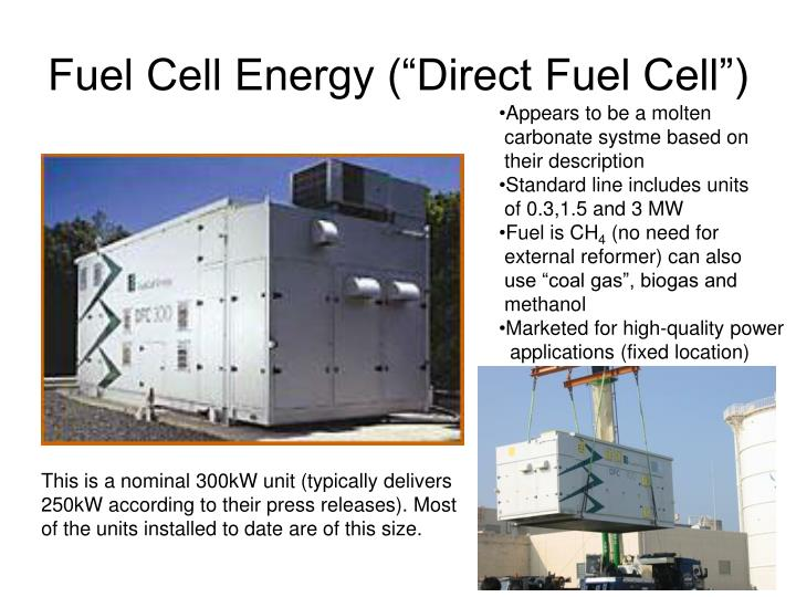 "Fuel Cell Energy (""Direct Fuel Cell"")"