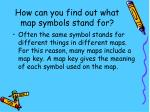 how can you find out what map symbols stand for