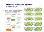 statistic prediction system 1 2 enso ca