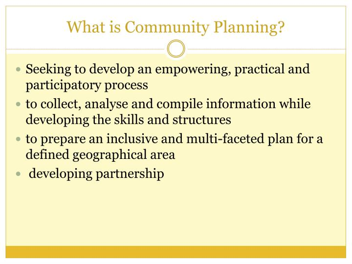 What is Community Planning?