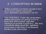 e consortias in india1