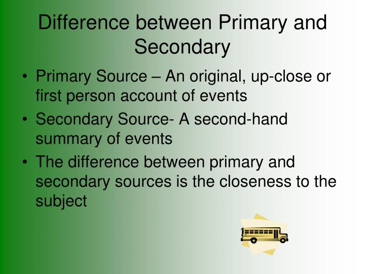 Difference between primary and secondary