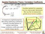 spectral distribution theory correlation coefficients