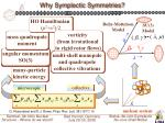 why symplectic symmetries1
