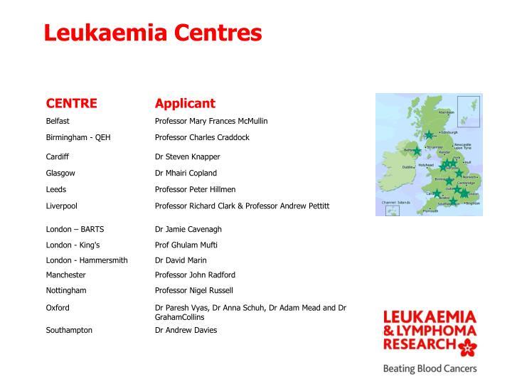 Leukaemia Centres