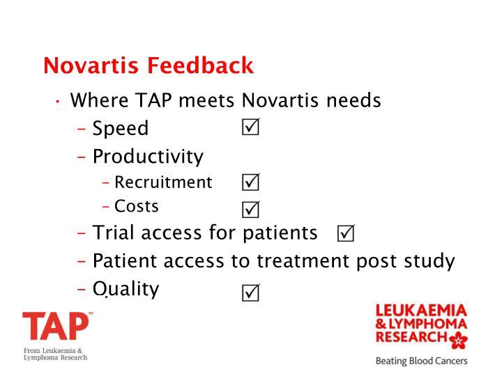 Novartis Feedback