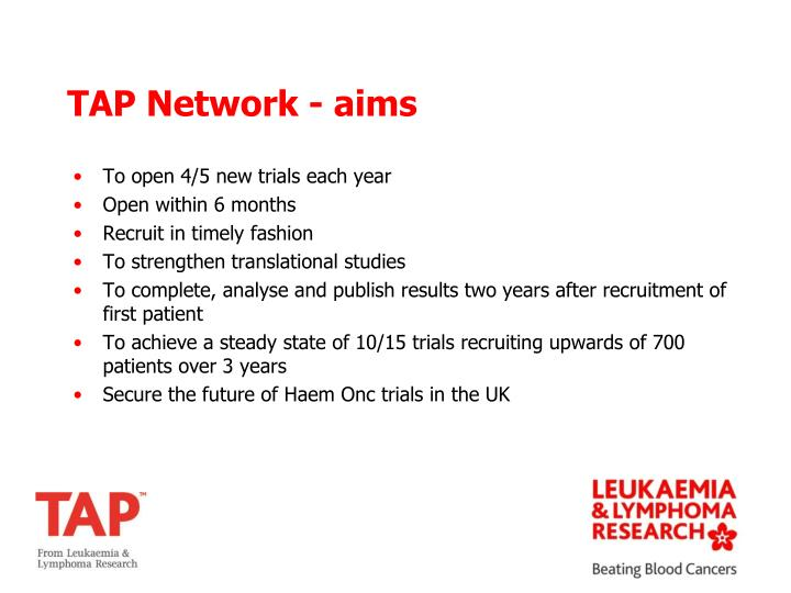 TAP Network - aims
