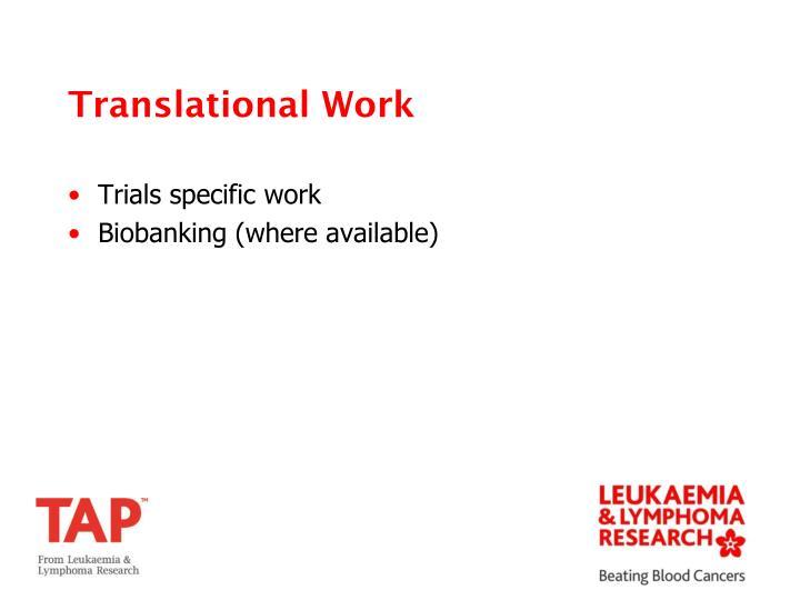 Translational Work