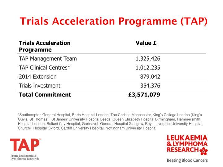 Trials Acceleration Programme (TAP)
