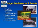 major conferences events