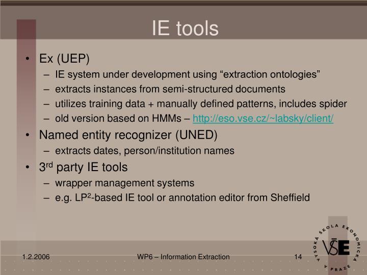 IE tools