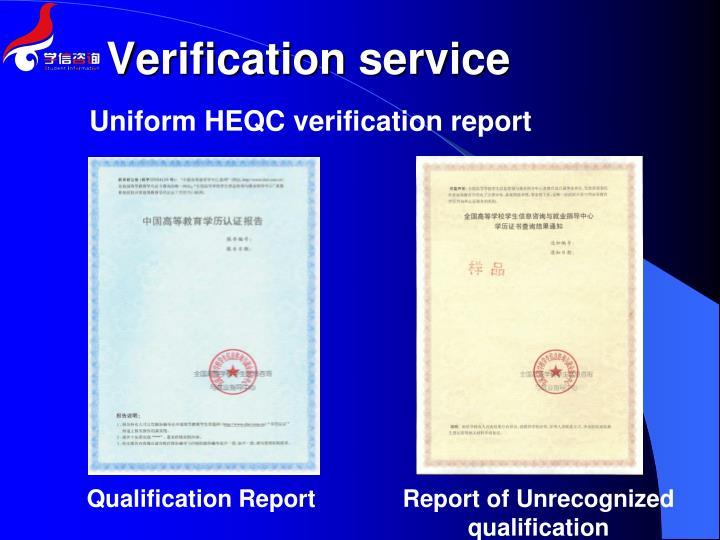 Verification service