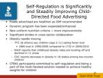 self regulation is significantly and steadily improving child directed food advertising