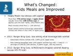 what s changed kids meals are improved