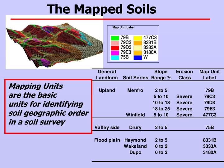 The Mapped Soils