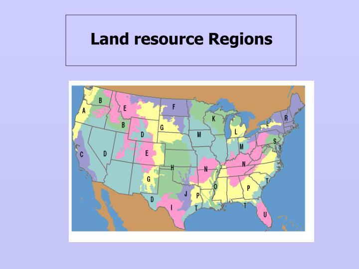 Land resource Regions