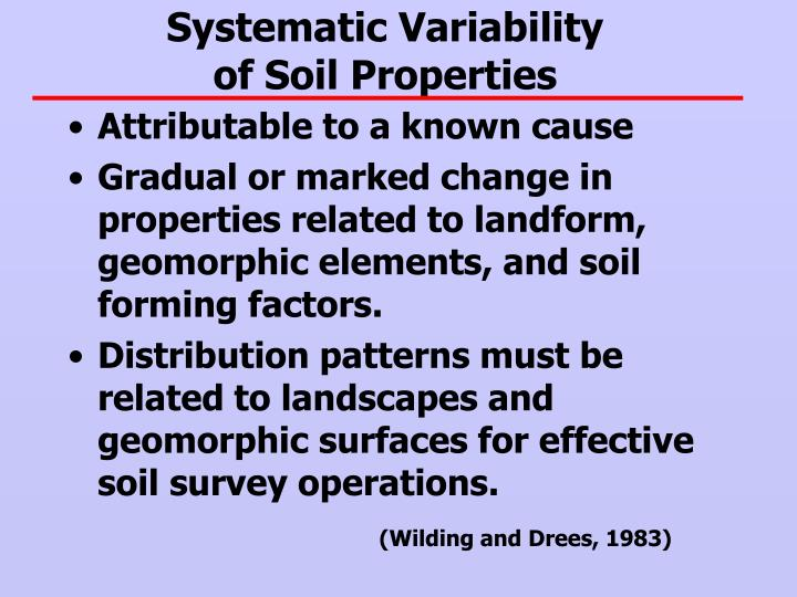 Systematic Variability