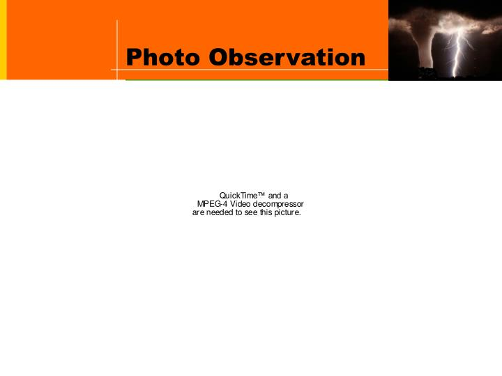 Photo Observation