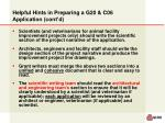 helpful hints in preparing a g20 c06 application cont d