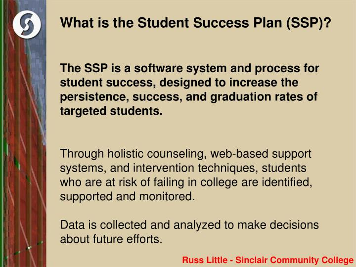 what is the student success plan ssp n.