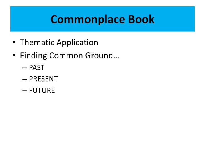 Commonplace Book