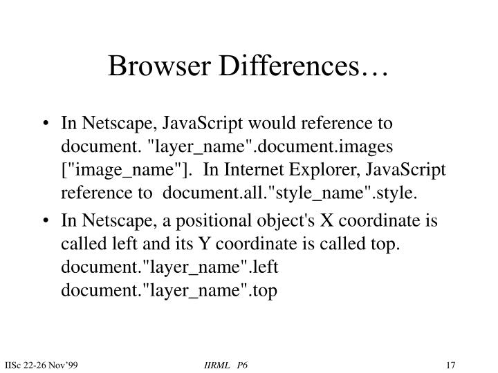 Browser Differences…