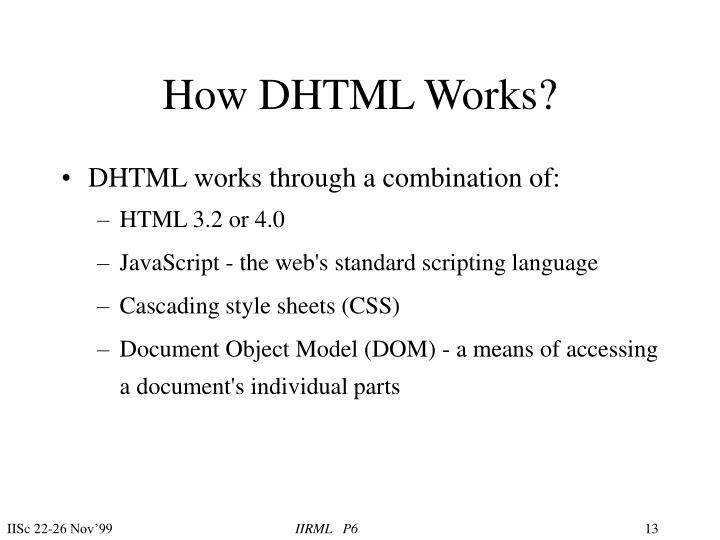 How DHTML Works?