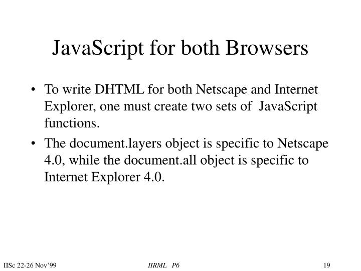 JavaScript for both Browsers