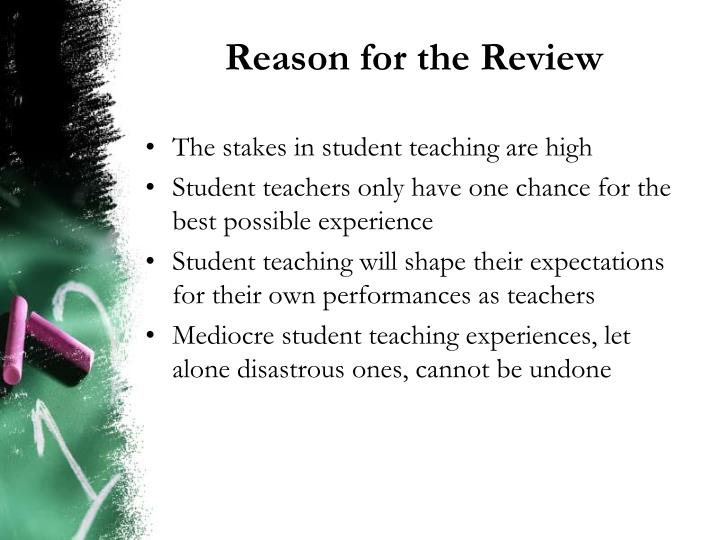 Reason for the review
