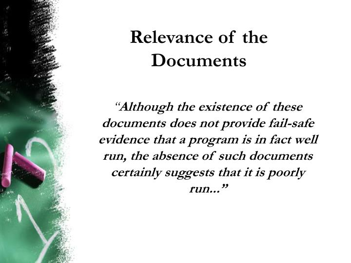 Relevance of the Documents