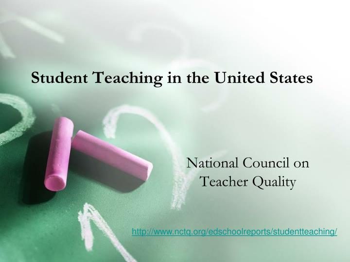 Student teaching in the united states