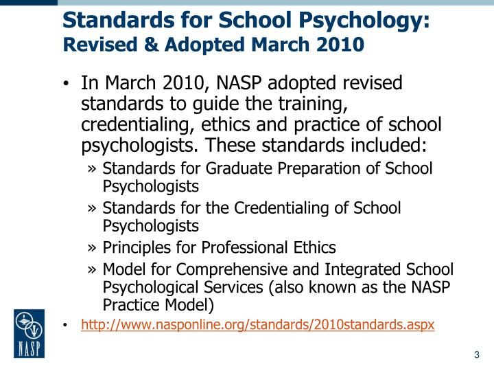 Ppt nasponline powerpoint presentation id4413749 standards for school psychology revised adopted march 2010 malvernweather Gallery
