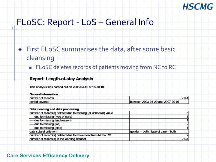 Flosc report los general info