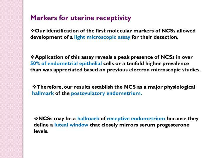 Markers for uterine receptivity