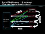 partial pilot process 1 q fact down downward evaluation of systems