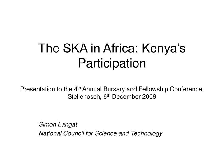 simon langat national council for science and technology n.
