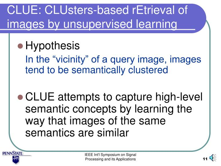 CLUE: CLUsters-based rEtrieval of images by unsupervised learning