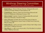 winthrop steering committee meeting dates of sep 9 2004 dec 2 2005
