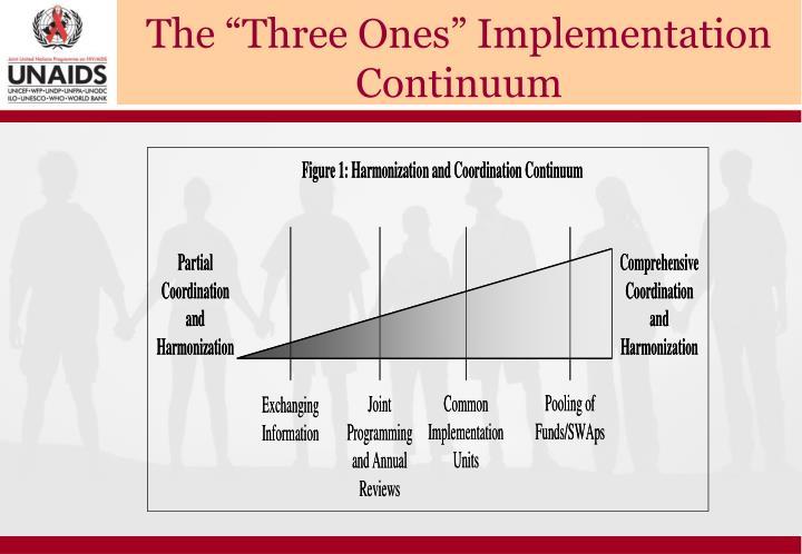 "The ""Three Ones"" Implementation Continuum"