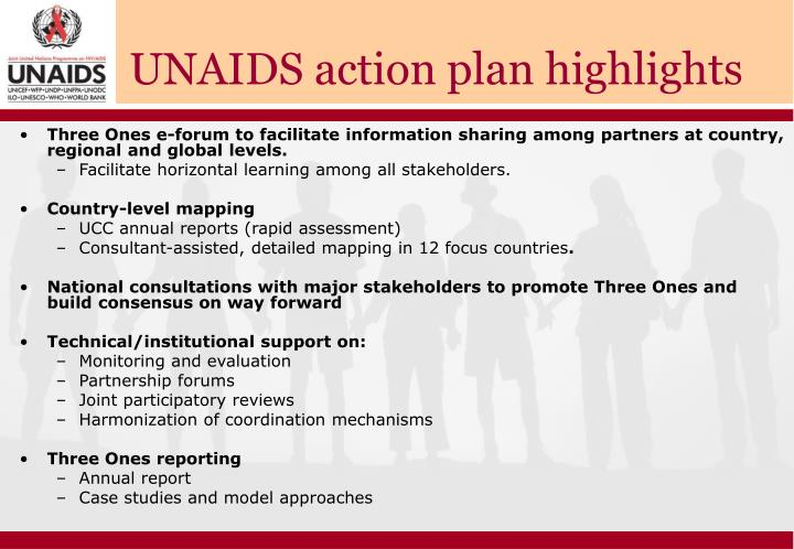 UNAIDS action plan highlights