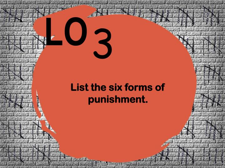 the six forms of punishment