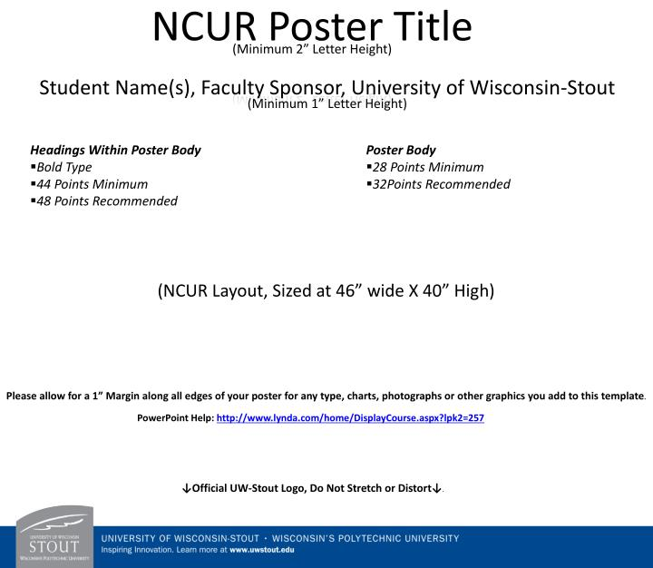 ncur poster title minimum 2 letter height n.