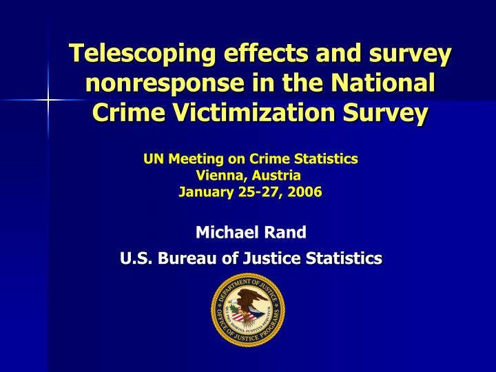 telescoping effects and survey nonresponse in the national crime victimization survey n.